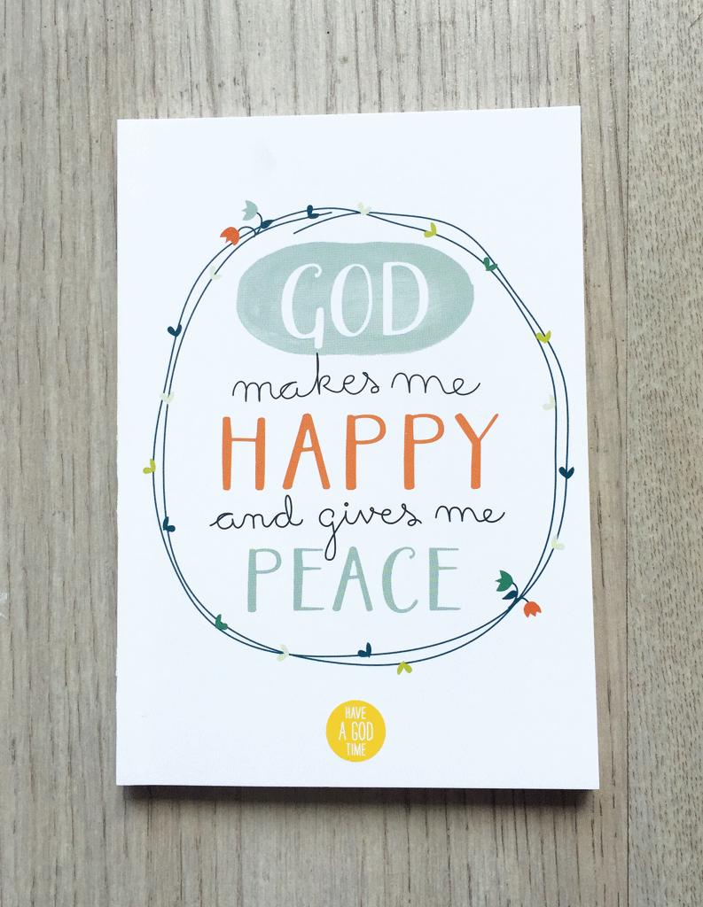 "Mini cuaderno ""God makes me happy"""