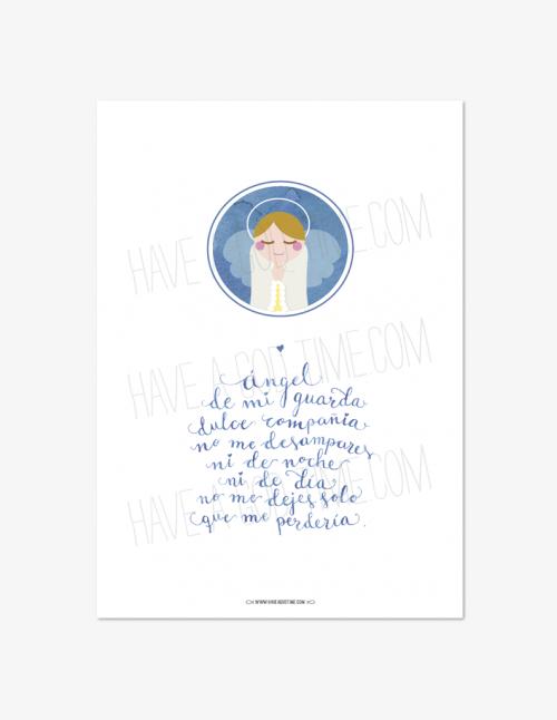 """Lámina """"Ángel de mi guarda"""""""