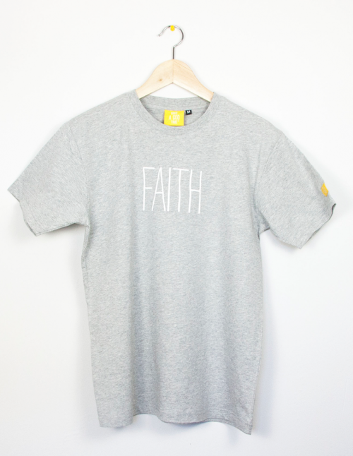 "Camiseta Basic gris ""faith"""