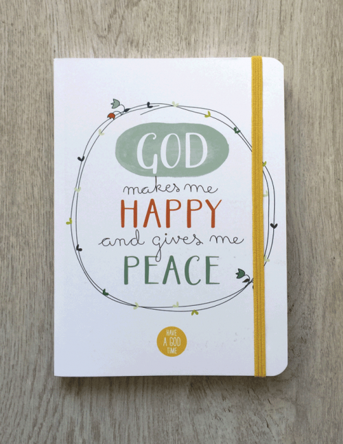 "Libreta goma ""God makes me happy"""