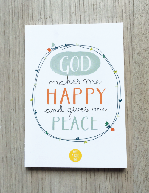 "Mini cuaderno ""God makes me happy"""