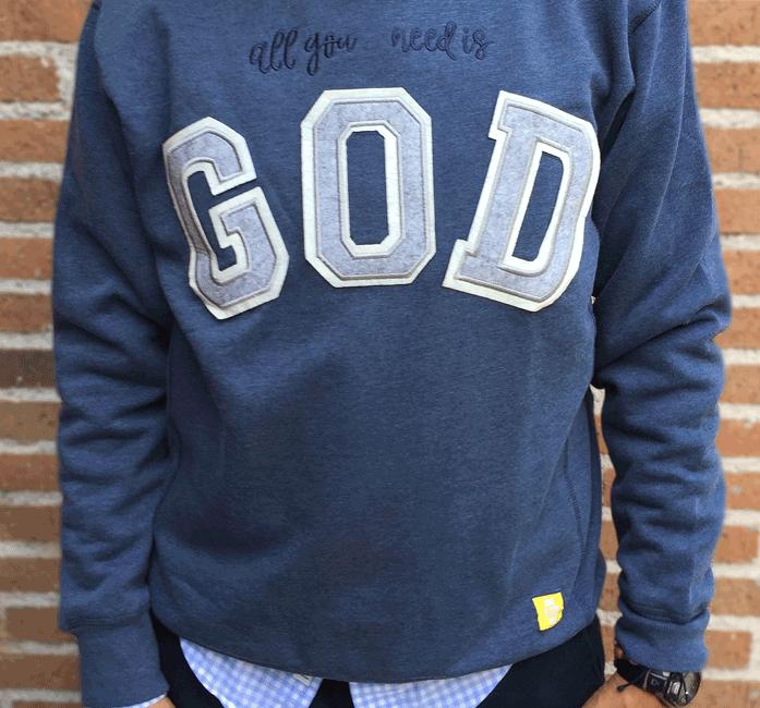 SUDADERA «GOD»
