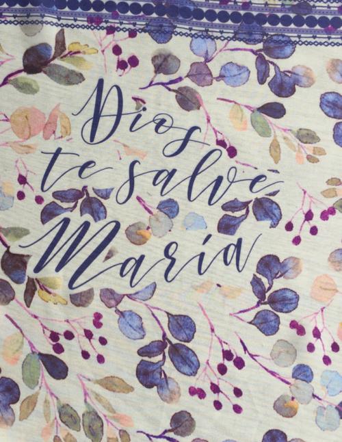 pañuelo mnorado Dios te salve María