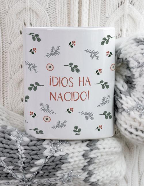 Taza Feliz Navidad pino